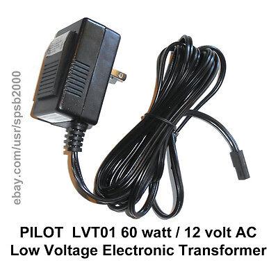 60watt 12volt Plug-In TRANSFORMER 60w 120v-12v AC low voltage MR16 halogen light