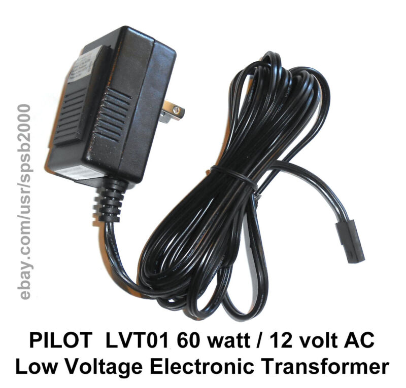 60watt 12volt Plug-In TRANSFORMER 60w 120v-12v AC low voltage MR16 halogen light