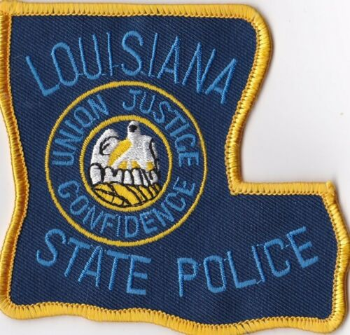 LOUISIANA STATE POLICE - SHOULDER PATCH - IRON OR SEW-ON PATCH