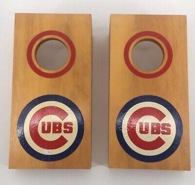 """Chicago Cubs MINI Bean Bag Toss Cornhole Game 6"""" x 12"""", No Bean Bags"""