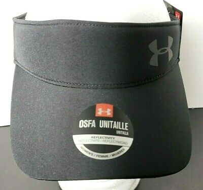 NEW - UA UNDER ARMOUR Women's Fly By Visor Running Reflective logo Adjustable