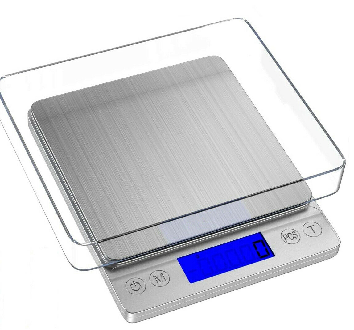 Digital Kitchen Scale 3000g Cooking Food Back-Lit LCD Displa
