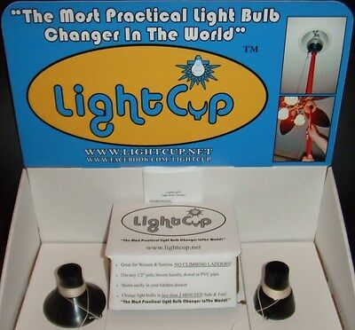 NEW IB & OFFICIAL LightCup (2) Piece Easy Light Bulb Changer Suction Cup Kit +++ Suction-cup-kit