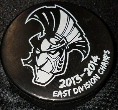 UNKNOWN AUTO!! SMEARED! 2013 east division champs SENATORS signed PUCK NO COA