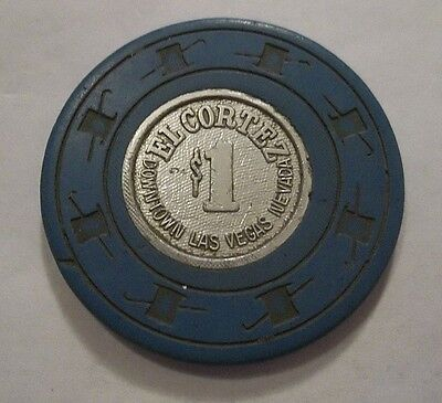 ✔ EL CORTEZ $1 CASINO POKER CHIP LAS VEGAS NEVADA NV DOWNTOWN CIC OBSOLETE OLD