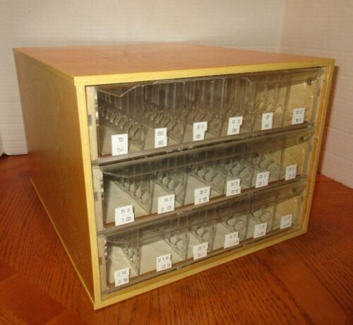 DMC Thread Embroidery Cabinet 3-Drawer Adjustable Dividers No Logo