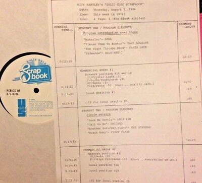 RADIO SHOW: 8/7/86 THIS WK 74! ABBA, ERIC CLAPTON, BLUE MAGIC, DAVE LOGGINS, BTO