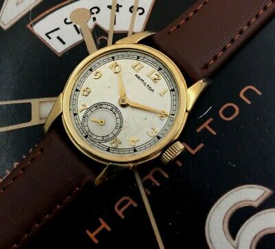 Vintage 1941 Mans Hamilton ENDICOTT Hand Wind Wristwatch Serviced  W/ WARRANTY
