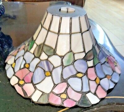 Tiffany Style stained glass Floral Lamp Shade Scalloped Unique Shape