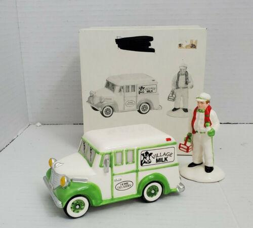 Department Dept 56 Snow Village HOME DELIVERY Milk Ceramic Figure Box Christmas