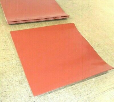 Silicone Rubber Sheet Us Hi-temp Red 116thk X 8 X 8 Square Pad 60d Med