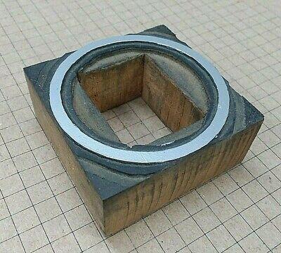 Circle W Cut-out For Letterpress Printer Block Kelsey Printing Press