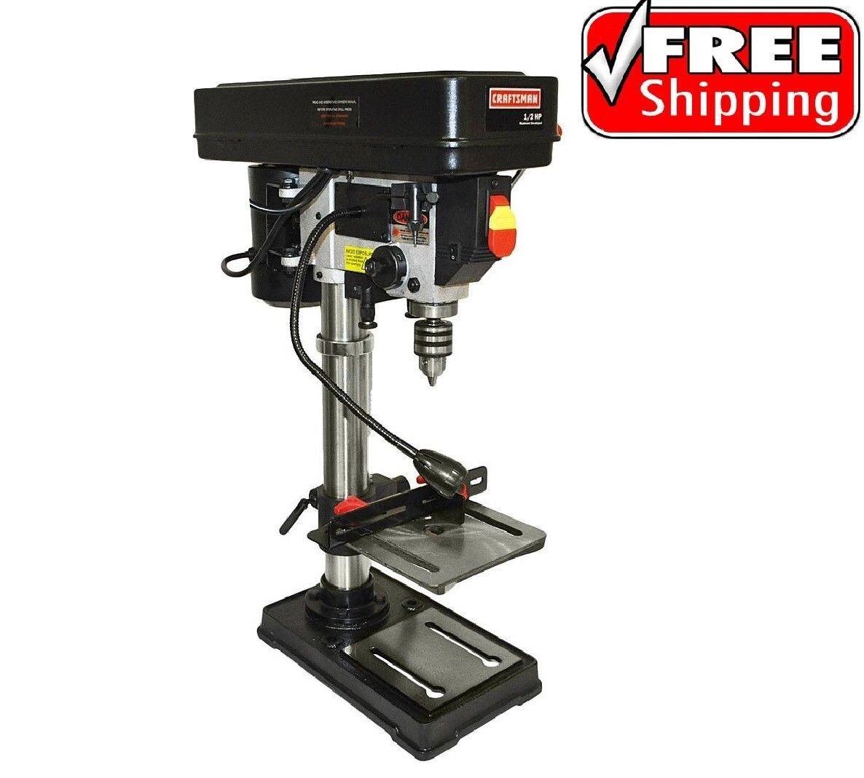 "Craftsman 10"" Bench Drill Press Laser Guide 1/2 HP Motor Adj"