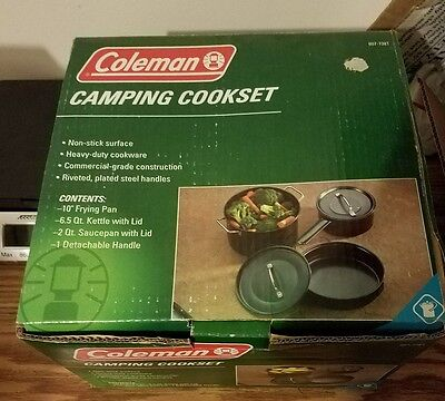 New Coleman Camping Cookset 6 Piece Non Stick  807-738T