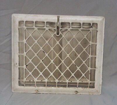 Antique Stamped Steel Wall Heat Grate Register Vent Design 12 x 10 Vtg 117-18F