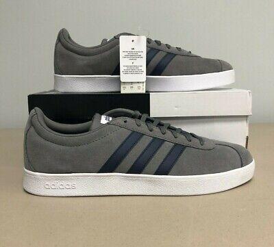 ADIDAS Mens Shoes VL COURT 2.0 DA9862 Skateborading Tennis Sneakers SIZE 10.5 (Adidas Tennis Sneakers)