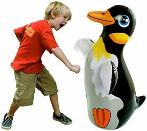 Inflatable-PENGUIN-3D-Boxing-Punch-Bop-Bag-Kids-Outdoor-Indoor-Game-Toy-KK