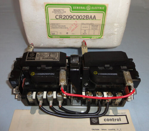 General Electric CR209C0002BAA Reversing Contactor CR209C0002 Motor Starter NEW