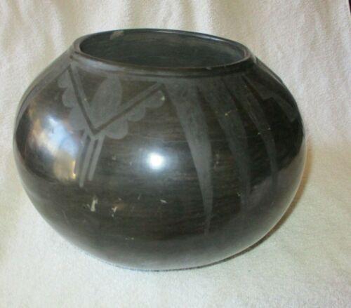 RAMONA SANCHEZ GONZALES-San Ilsefonso Blackware Bowl-Early Artisan-1920s-1930s