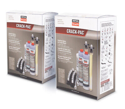 Simpson Strong-tie Etipac10kt-2 Crack-pac Injection Epoxy Crack Repair Kit 2ct