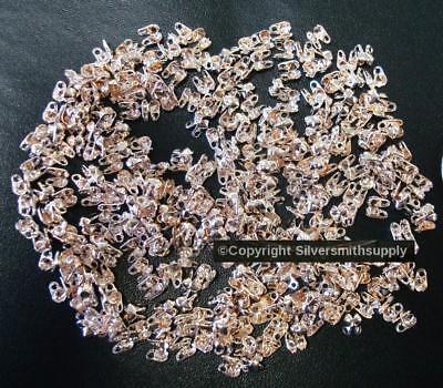 Bead tips/necklace ends 3mm lt. rose gold pltd metal closed loop 300+pcs fpc301