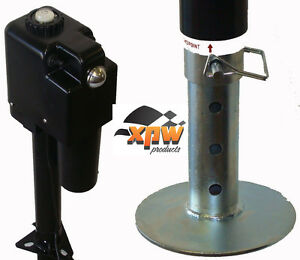 XPW RV/Dump Trailer/Camper 4500 Tongue Jack w/Level-Power/Electric Adj Foot /12v