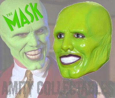 'THE MASK' (JIM CARREY) LATEX MASK Halloween, Costume, Party, Fancy Dress - The Mask Fancy Dress Costume