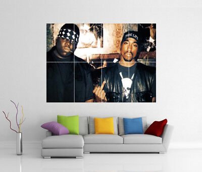 TUPAC SNOOP DOGG 24X36 POSTER WALL ART DECOR HIPHOP LEGENDS CHAIN RAPPERS STARS!