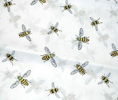 "20 Large 20"" x 26"" Sheets -- BUMBLE BEES on White Tissue Paper / Gift Wrap"