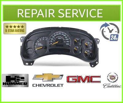 REPAIR SERVICE for 2003-2007 Chevrolet Duramax, Z71 Instrument Gauges Cluster