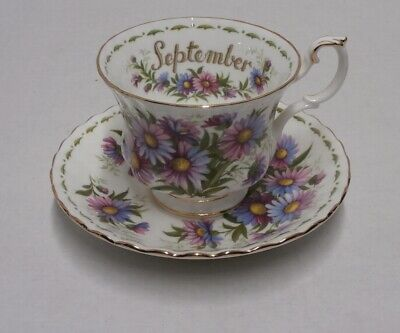 Royal Albert Michaelmas Daisy September Cup & Saucer - s10b