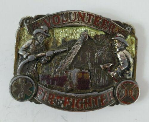 Volunteer Firefighter Belt Buckle Great American Buckle Co Vintage 1986 Project