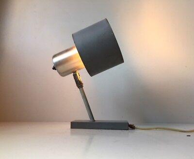 Vtg 1960s Fog Morup Grey Wall Lamp Sconce danish mid century Jo Hammerborg Alfa