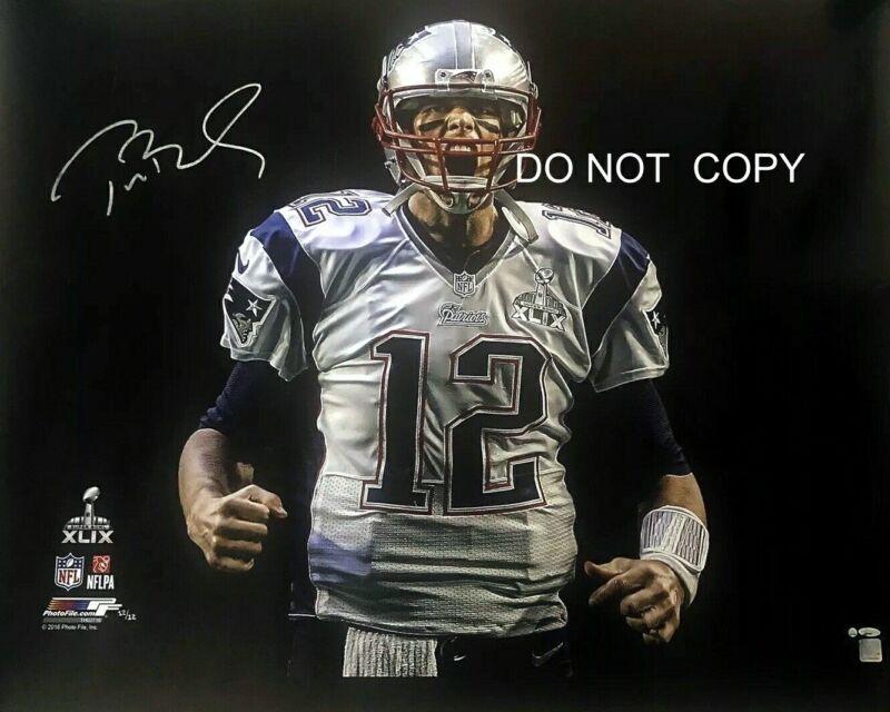 Tom Brady Signed 8x10 Autographed Reprint Photo New England Patriots Rp