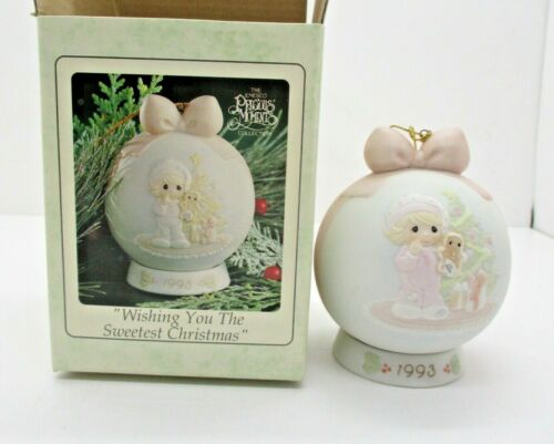 Precious Moments Wishing You The Sweetest Christmas, 1993 Ornament