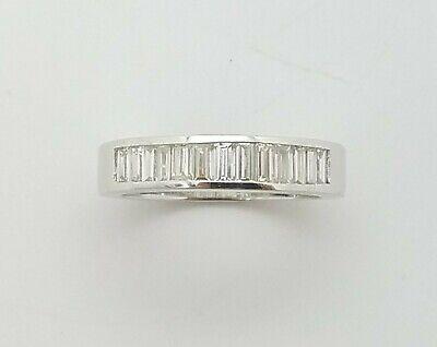 14k White Gold Channel Set Baguette 2.0 carat Diamond Wedding Bands Ring 9 Bridal Channel Set Baguette