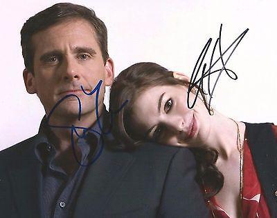 Steve Carell   Anne Hathaway Signed 8 X 10 Get Smart Cast Photo Dual Auto Coa