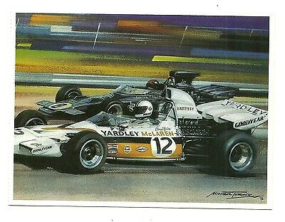 A larger format, art postcard of the 1972 South African Grand Prix, Kyalami