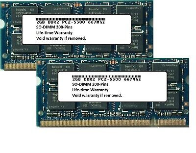 New 4GB Kit (2x2GB) Laptop Memory Ram PC2-5300 SODIMM for Acer Aspire 5517
