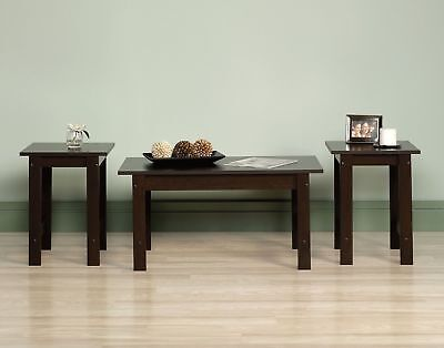 Coffee Table Set End Side Wood Cocktail Living Room Tables Furniture 3-Piece NEW ()