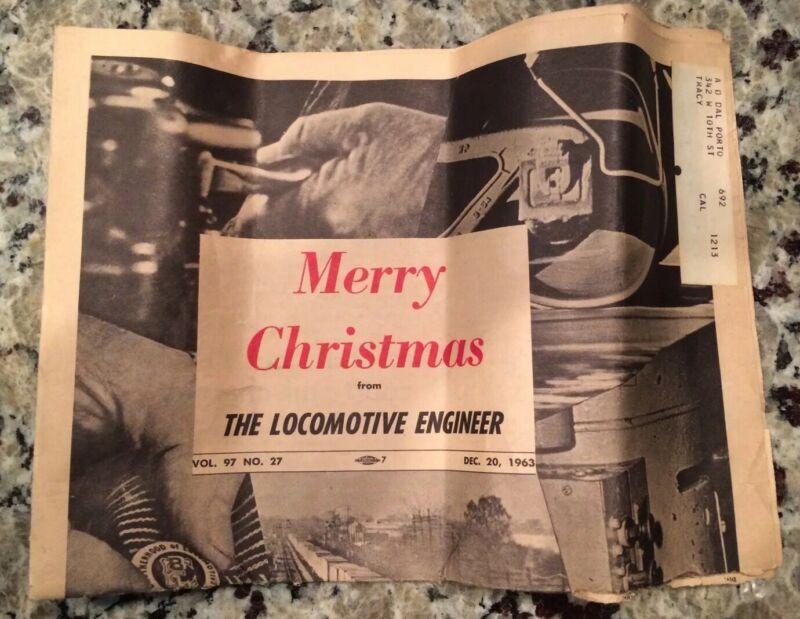 "Vtg ""Locomotive Engineer"" Newspaper/Christmas 1963 Ed/Vol. 97, No. 27"