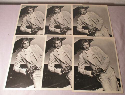 Lot of 6 Vintage 8x10 Promotional Litho. Prints BARRY MANILOW