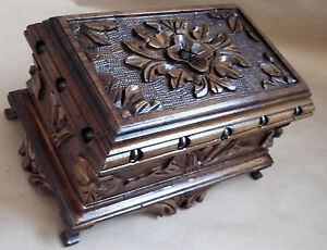 TURKISH-PUZZLE-MAGIC-TRICK-SECRET-JEWELRY-BOX-CASE-WALNUT-WOOD-PANDORA-SLENDER