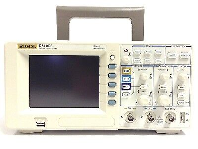 "RIGOL DS1102E Digital Oscilloscope 100MHz 1 GSa/s 2 channels 1Mpts 5.7"" TFT USB"