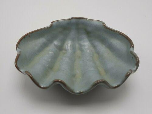 Frankoma woodland moss 7 inches shell bowl dish T-9