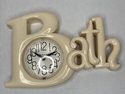 Vintage New Haven Quartz BATH Wall Clock 1983 Works VTG