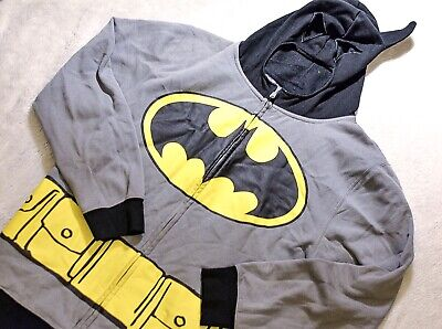Vintage Batman Hoodie With Mask As The Hood DC Universe M/L
