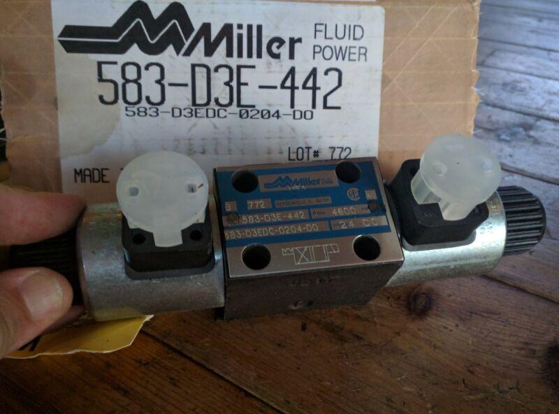 MILLER FLUID POWER Directional Control Valve 583-D3E-442 583-D3EDC-0204-DO