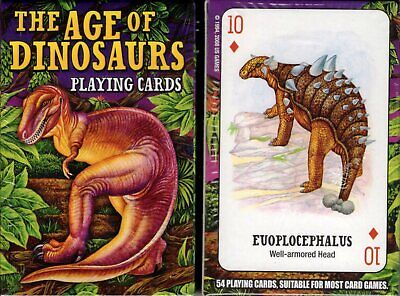 The Age of Dinosaurs Playing Cards Game Bridge Size Deck USGS Custom New Sealed