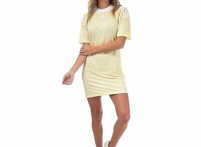 ADIDAS ORIGINALS TREFOIL TEE DRESS MIST SUN -BNWT  SIZE UK 10,12,14,16 LAST4